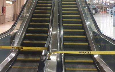 Escalator Cleaning Waterloo Station