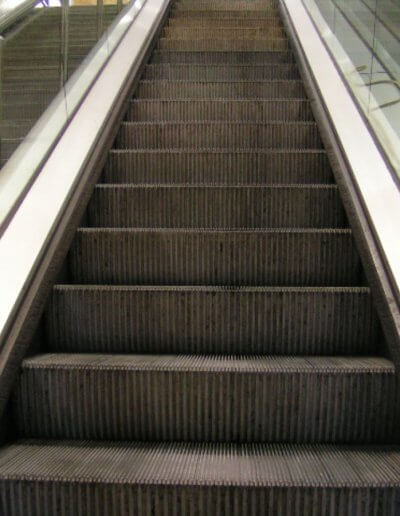 Escalator Step Cleaning