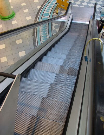 ESD Escalator Aesthetics step cleaning28