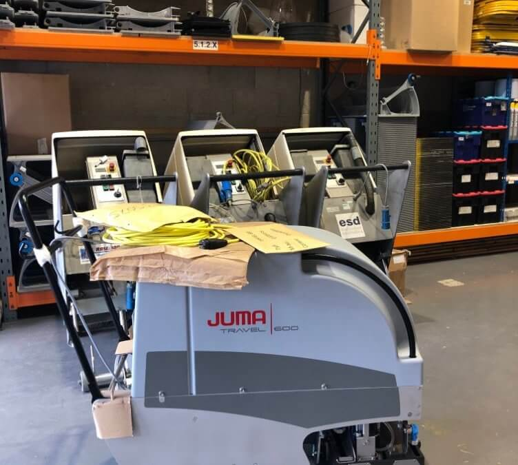 New delivery of escalator cleaning machine from Germany
