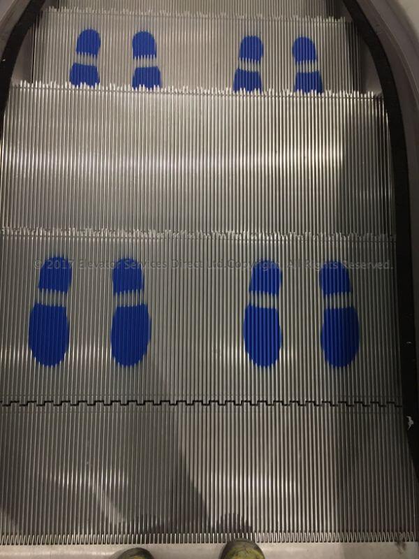 Escalator Safety Blue Safety Feet