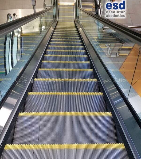 Leeds Central Station. New safety demarcations on all 10 escalators.