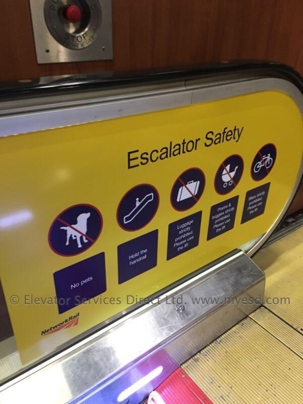 Escalator Safety Media – Edinburgh Station.