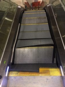 Escalator cleaning damage