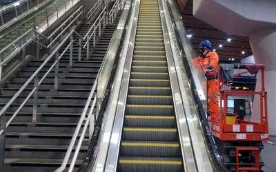 Escalator Safety Demarcations London Bridge Station